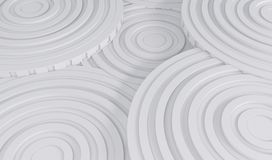 Abstract Architecture Background. 3d Illustration of White Circular Building. Modern Geometric Wallpaper Stock Image