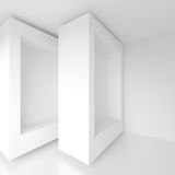 Abstract Architecture Background. 3d Illustration of White Geometric Design Stock Photography