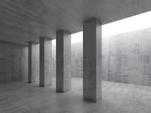 Abstract architecture background, 3d interior Stock Photography