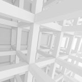 Abstract Architecture Background. 3d Rendering of White Building Construction. Abstract Architecture Background Royalty Free Stock Photography