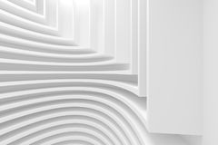 Abstract Architecture Background. 3d Rendering of Abstract Architecture Background. White Circular Building Stock Photos