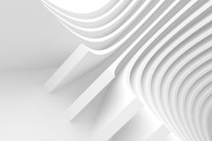 Abstract Architecture Background. 3d Rendering of Abstract Architecture Background. White Circular Building Royalty Free Stock Photography