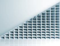Abstract architecture background, 3d stairs. On the wall Stock Photo