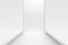 Abstract Architecture Background. 3d White Abstract Architecture Background Royalty Free Stock Photo