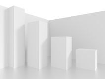 Abstract Architecture Background. 3d White Abstract Architecture Background Stock Images