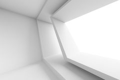 Abstract Architecture Background. 3d White Building Construction. Abstract Architecture Background Stock Photos
