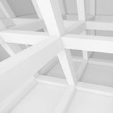 Abstract Architecture Background. 3d White Building Construction. Abstract Architecture Background Stock Images