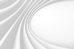 Abstract Architecture Background. 3d Abstract Architecture Background. White Circular Building Stock Image