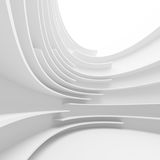 Abstract Architecture Background. 3d Abstract Architecture Background. White Circular Design Royalty Free Stock Photography