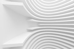 Abstract Architecture Background. 3d White Abstract Architecture Background. Modern Minimal Design Royalty Free Stock Photo