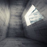 Abstract architecture background, dark concrete room Royalty Free Stock Images