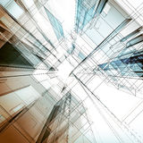 Abstract architecture background. Architecture design and 3d model my own stock illustration
