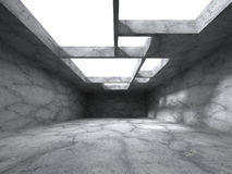 Abstract architecture background. Empty concrete room interior. 3d render illustration Stock Image