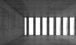 Abstract architecture background, empty 3d interior. Abstract architecture background, empty interior and concrete walls and columns, 3d illustration Royalty Free Stock Photos
