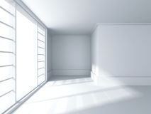 Abstract Architecture Background. Empty Room With Window. 3d Render Illustration Royalty Free Stock Photography