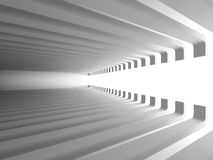 Abstract Architecture Background. Empty White Futuristic Room. 3d Render Illustration Royalty Free Stock Photos