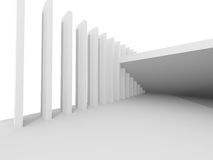 Abstract Architecture Background. Empty White Futuristic Room Royalty Free Stock Photography