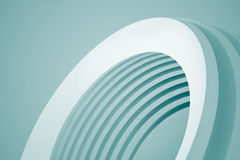 Abstract Architecture Background. Empty White Futuristic Room. 3d Render Illustration Royalty Free Stock Images