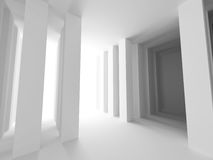 Abstract architecture background. Geometric Interior Design. 3D render illustration Stock Photos
