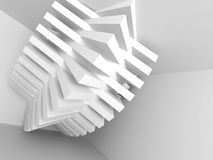 Abstract Architecture Background. Interior Design Element. 3d Render Illustration Royalty Free Stock Photos