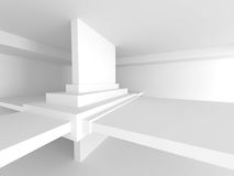 Abstract Architecture Background. Modern Interior Design. 3d Render Illustration Royalty Free Stock Photography