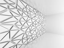 Abstract Architecture Background. Poligonal Triangle pattern Wal. L. 3d Render Illustration Royalty Free Stock Image