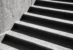 Abstract architecture background with stone staircase Stock Images