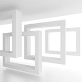 Abstract Architecture Background. White Building Construction. 3d Illustration Stock Photos