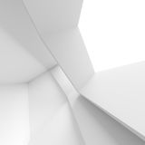 Abstract Architecture Background. White Building Construction. 3d Illustration Royalty Free Stock Photo