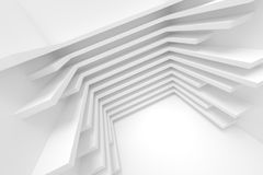 Abstract Architecture Background. White Building Construction. Abstract Architecture Background. Modern Interior Design. 3d Rendering of White Minimal Technology Stock Photo