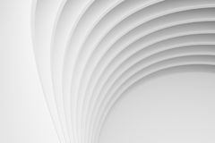Abstract Architecture Background. White Circular Building Stock Image