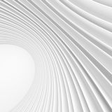 Abstract Architecture Background. White Circular Building. 3d Rendering Stock Photos