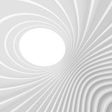 Abstract Architecture Background. White Circular Tunnel Buildin. G. 3d Illustration of Light Futuristic Hall. Minimal Technology Render Royalty Free Stock Image