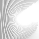 Abstract Architecture Background. White Circular Tunnel Building Stock Photography