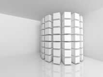 Abstract Architecture Background. White Design Interior. 3d Render Illustration royalty free illustration
