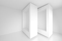 Abstract Architecture Background. White Geometric Design Stock Images