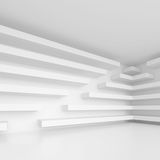 Abstract Architecture Background. White Interior Design, 3d Illustration of Building Construction Stock Images