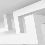 Abstract Architecture Background. White Interior Design, 3d Illustration of Building Construction Stock Photography