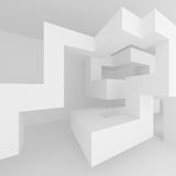 Abstract Architecture Background. White Interior Design Stock Images
