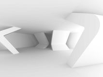 Abstract Architecture Background. White Minimal Interior Design Royalty Free Stock Photography