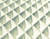 Abstract architecture background. White square 3d pattern Royalty Free Stock Image