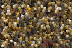 Abstract architecture backgrounds. Building structure from cubes. Abstract architecture background Royalty Free Stock Photos