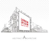 Abstract Architecture Billboard Building Royalty Free Stock Images