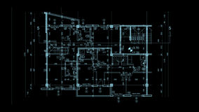 Abstract architecture blueprint Royalty Free Stock Images