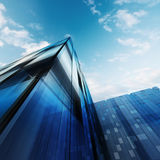 Abstract architecture. Building design and 3d model my own Royalty Free Stock Photo