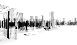 Abstract architecture. City blueprint Stock Images