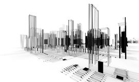 Abstract architecture. City blueprint Royalty Free Stock Photography
