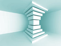 Abstract Architecture Column Design Background. Empty Room Interior. 3d Render Illustration Royalty Free Stock Images