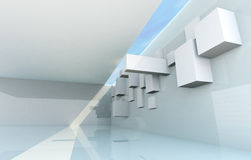 Abstract Architecture Concept. Gallery interior Stock Photos