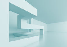 Abstract Architecture Concept. 3d Blue Abstract Architecture Concept Stock Photography